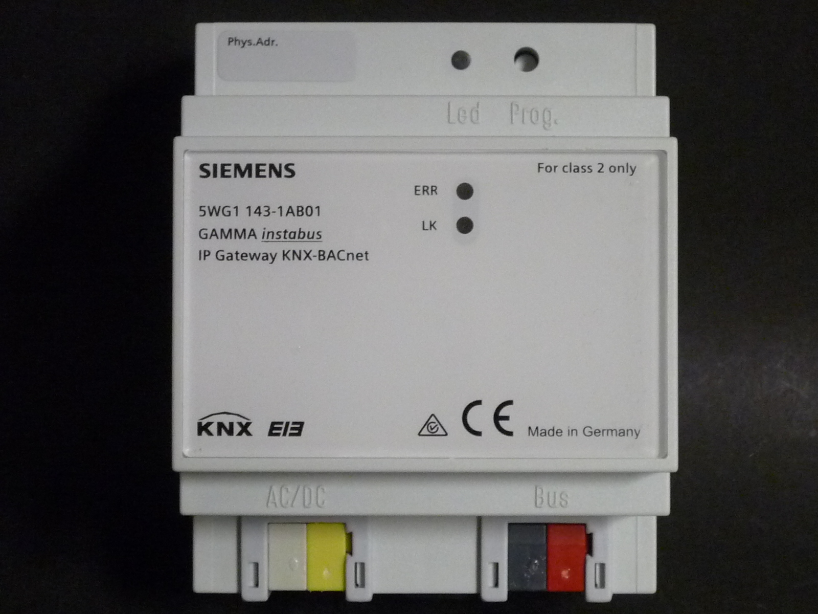 siemens eib knx ip gateway knx bacnet n 143 01 reg 5wg1 143 1ab01 neu ebay. Black Bedroom Furniture Sets. Home Design Ideas