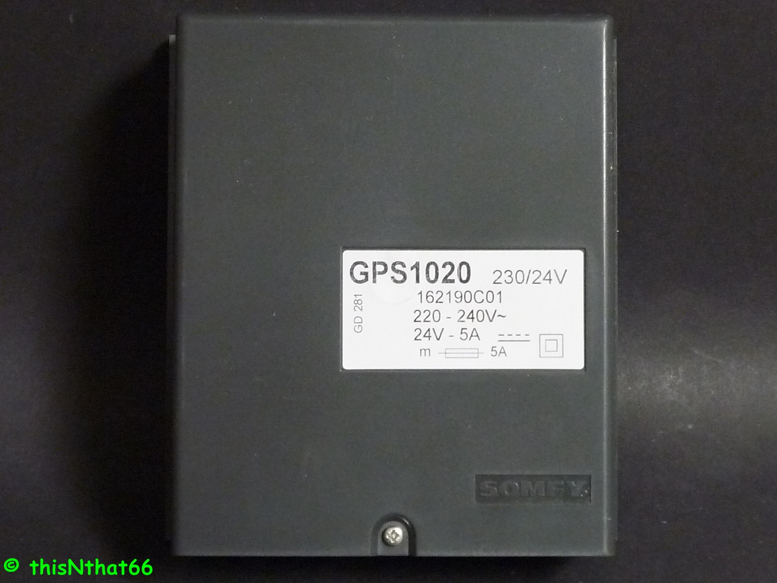 Somfy groups control for Blind drives GPS 1020 24 V DC or